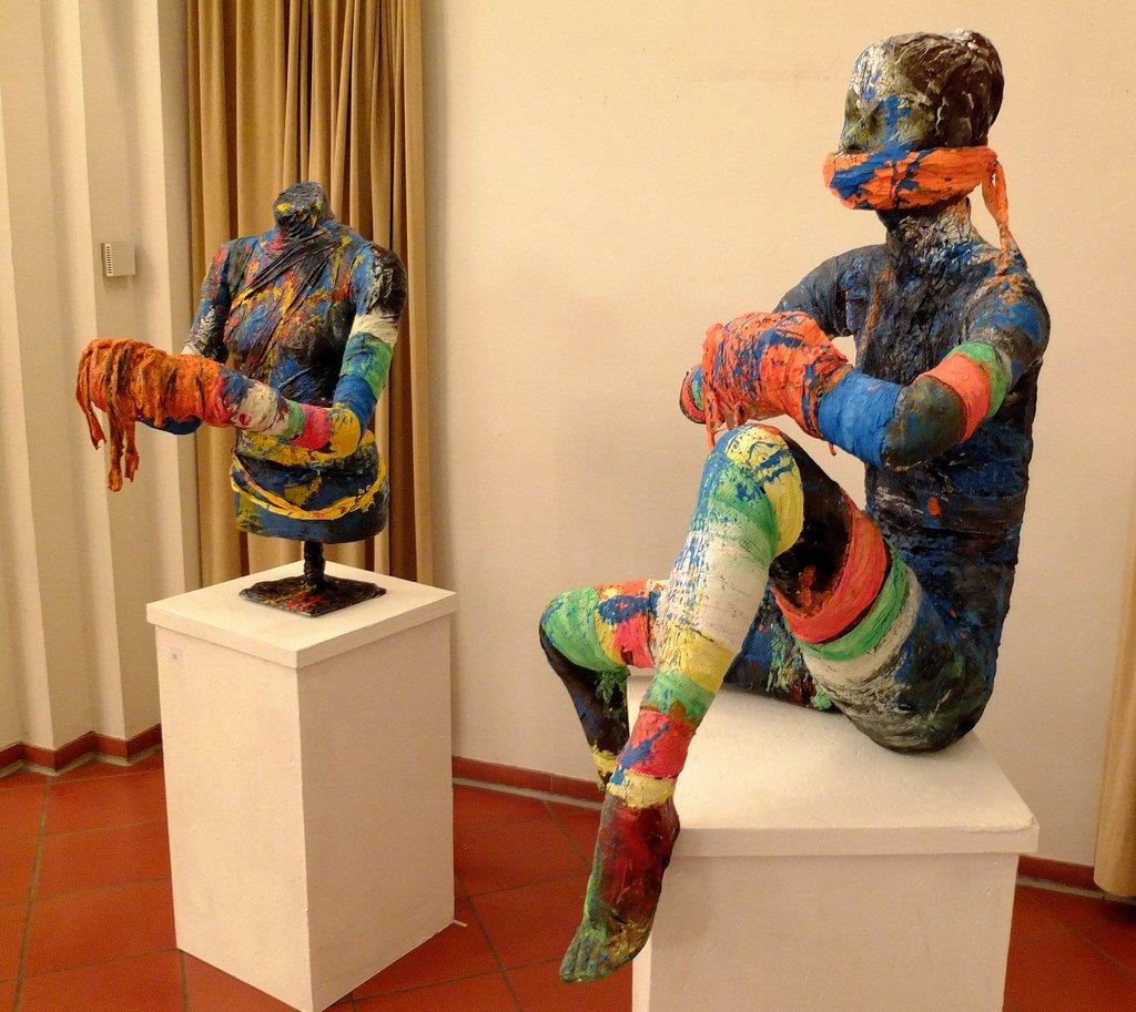 Kunst in Fesseln - Installation Spitalhof Reutlingen