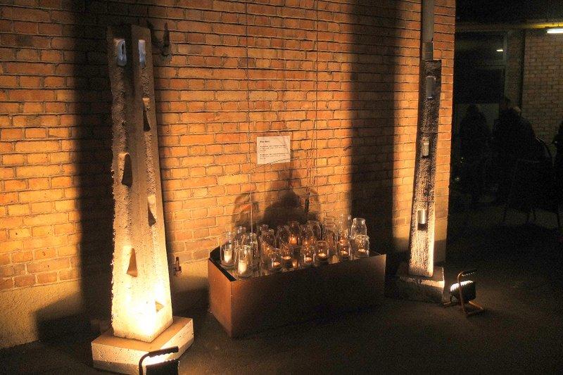 Wächterstelen I und II - Installation Kulturnacht Reutlingen